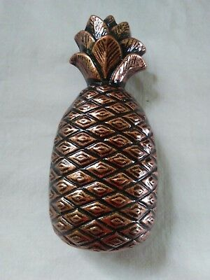 "Ajax Drawer Pull Pineapple Antique Copper 4-1/2"" L x 2"" W for Fruit Bin/Pantry"