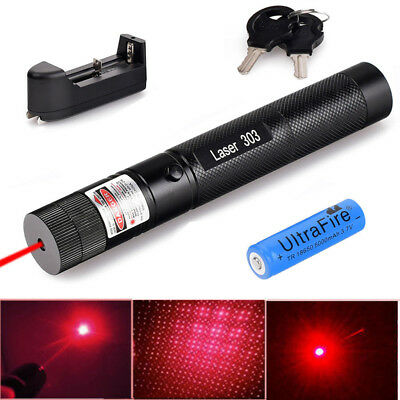 Military High Power Red Laser Pointer Pen 532nm Burn Lazer 18650 Battery Charger