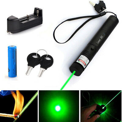 2x Military High Power Laser Pointer Pen 532nm Lazer 18650 Battery Charger Green