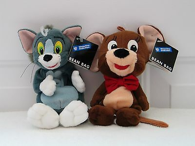 New w/ Tags - Hanna Barbera - Tom & Jerry Bean Bag Plush - Beanie - Lot of 2