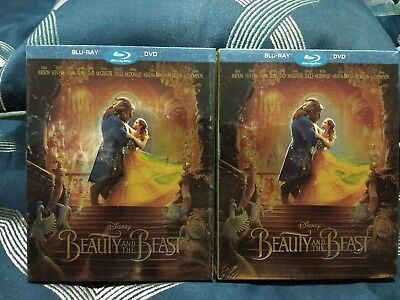 Beauty and the Beast, 2017 LIVE(Blu-Ray + DVD) SLIPCOVER - FREE SHIP- BRAND NEW