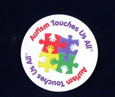 'Autism Touches Us All' round Fridge Magnet
