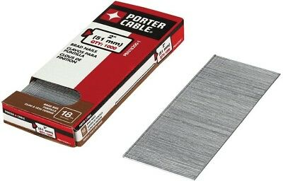 Porter-Cable 1000-Pc 2x18-Gauge Brad Nail Steel Home Chisel Fastening Accessory
