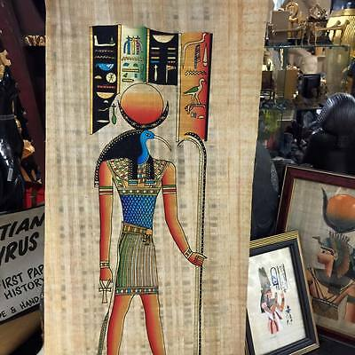Vintage Hand Painted Papyrus Egyptian God Thoth Made In Egypt