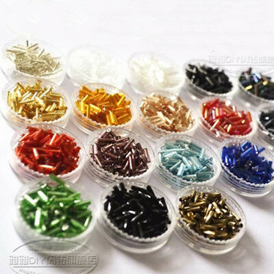 Lots 600Pcs/Pack 6mm Long Glass Bugle Tube Seed Beads For DIY Jewelry Making Hot