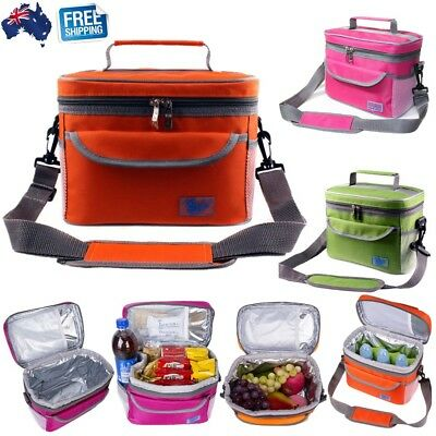 Large Thermal Cooler Bag Insulated Lunch Bag Picnic Storage Carry Shoulder Box