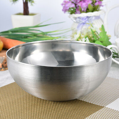 22-26CM Large Mixing Serving Bowl Salad Batter Baking Stainless Steel