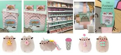 Pusheen The Cat Mermaid Single Double Duvet Cover Bed Set Throw Cushion Primark