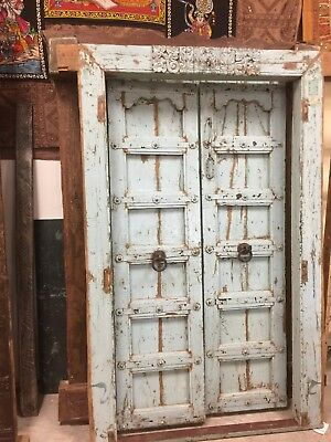 Antique Doors Blue Vintage Shabby Chic Door Rustic OLD WORLD ECLECTIC BOHODesign