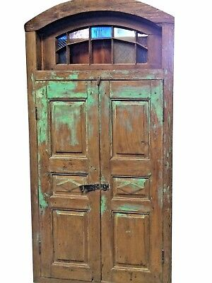 Antique Indian Terrace Door Vintage Rustic Jharokha Window Architectural
