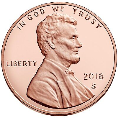 2018-S 1C DC (Proof) Shield Cent Deep Cameo Untouched Pristine Example