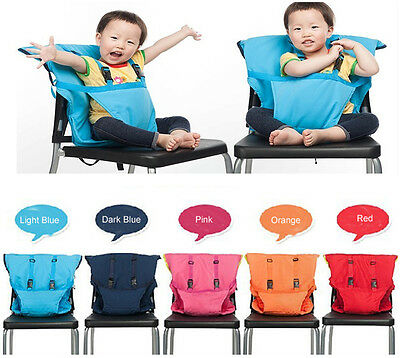 Portable Travel Foldable Washable Baby Infants Dining High Chair Harness Seat AU