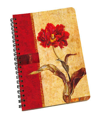 Spiral Notepad Flowers Personal & Professional Use Writing Space Multi