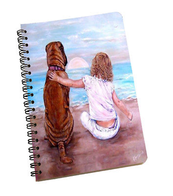 Spiral Notepad Dog & Girl Personal And Professional Use Writing Space Multi