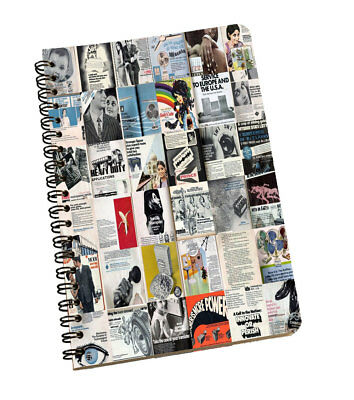 Spiral Notepad Newspaper Print Personal & Professional Writing Space Pad Gray