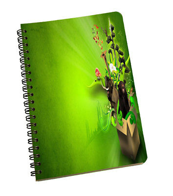 Spiral Notepad Green Abstract Personal & Professional Writing Space Pad Green