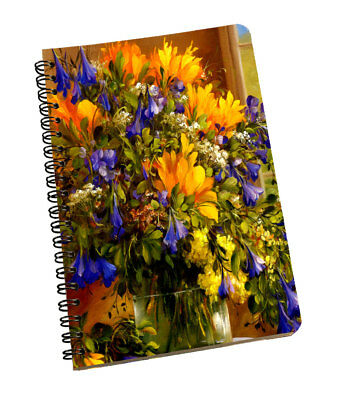 Spiral Notepad Flower Personal & Professional Use Writing Space Yellow