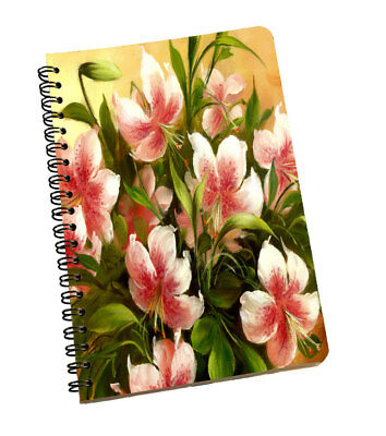 Spiral Notepad Flower Personal & Professional Use Writing Space Diary Book Multi