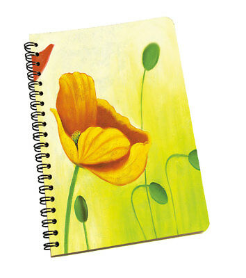 Spiral Notepad Flowers Personal & Professional Use Writing Space Yellow