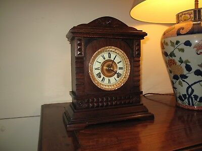 Antique Bracket Clock by ASONIA CLOCK CO. of New York