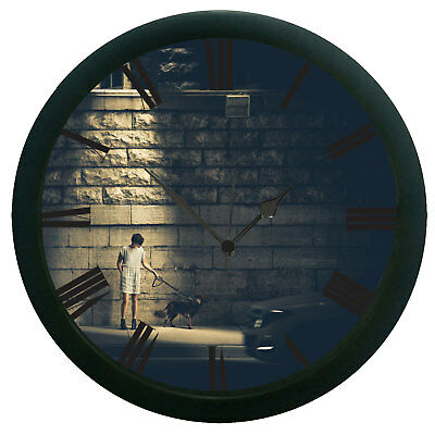 Man With Dog 3D Wall Clock Removable Home Decor Art Design Watch