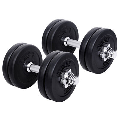15kg Dumbbell Set Gym Fitness Exercise Weight Training Home Adjustable New Train