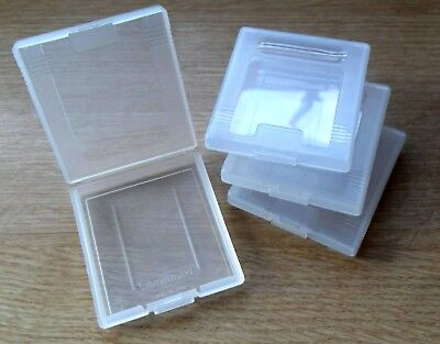 4 x Official Nintendo Game Boy Game Cartridge Cases, Clear, Genuine, Case, Color