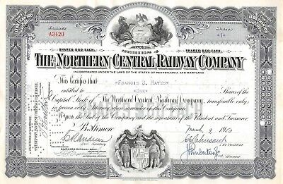 The Northern Central Eisenbahn-compagny Zertifikat 1950 (3420)