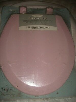 Shabby Cottage Chic Vintage Pink Toilet Seat Round Paris Chic New Mayfair