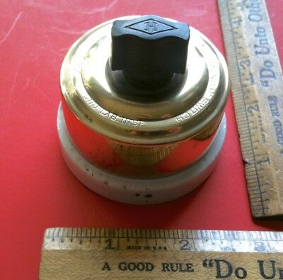 """Antique Early 1900's """"Diamond H"""" Rotary On Off Switch Hart Mfg. Hartford Conn"""