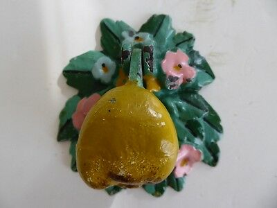 Rare all original antique 1940 cast iron Plum door knocker