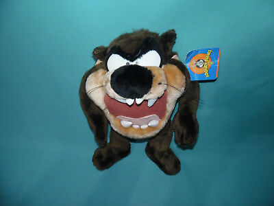 "1997 Taz Looney Tunes 12"" Tasmanian Devil Stuffed Plush Toy Warner Bros w/ tags"