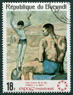 BURUNDI 1967 18f SG321 used FG NH World Fair Montreal Paintings Picasso a1