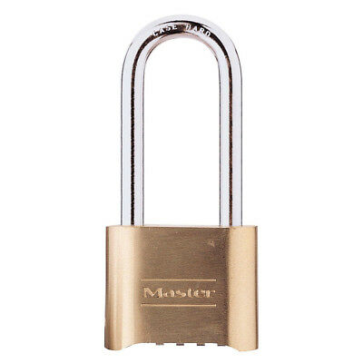 Pack of 3 NEW Master Lock 175LH Brass Combination Lock Resettable Padlock
