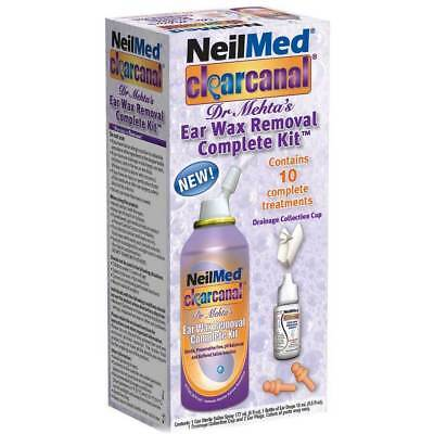 NeilMed Clear Canal Dr Mehtas Complete Kit 10 Treatments Sealed Exp 1/2018