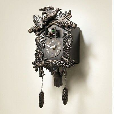 Black Forest Cookoo Clock Wall Musical Vintage Chiming Traditional House Room