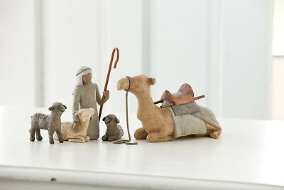 "Shepherd  & Staple Animals ""Hirte mit Tieren"" von Willow Tree Krippe"