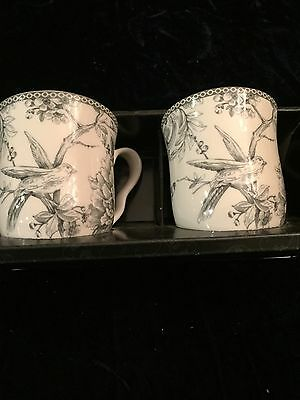 Two Cups Set Of222 FIFTH ADELAIDE Gray  New Free Shipping