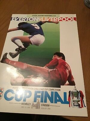 1986 - FA CUP FINAL PROGRAMME - EVERTON v LIVERPOOL - V.G CONDITION