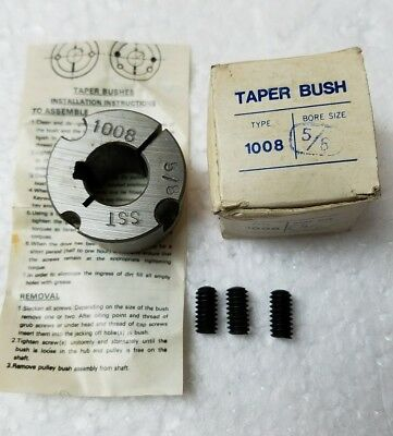 "New Taper Lock Bushing 1008 5/8 100858 5/8"" Bore Sst"