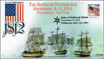 16-420, 2016, The Battle of Plattsburgh, Plattsburgh NY, Pictorial, Event Cover,