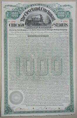 he Cleveland, Cincinnati Chicago and St Louis Raiway compagny certificate 1890