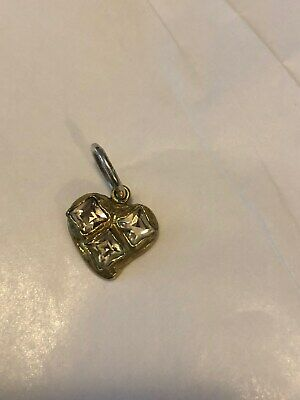 """Waxing Poetic /""""Bright Heart/"""" Sterling Silver Charm with Three Swarovski crystals"""