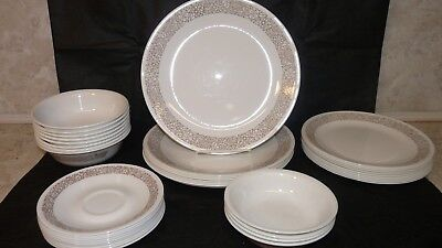 Vintage Corelle Corning Woodland Brown Dishes Replacement Plates Bowls Saucer