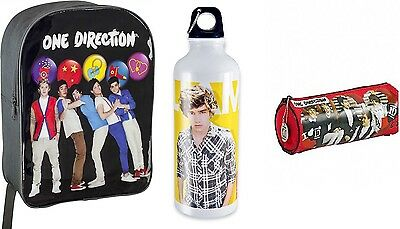 Official 1D One Direction Bag Water Bottle And Pencil Case Set-Back To School