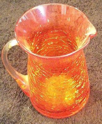 Small But Beautiful Red Crackle Glass Pitcher