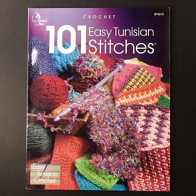 101 Easy Tunisian Stitches Annie's Attic Crochet Instruction Pattern Book VG