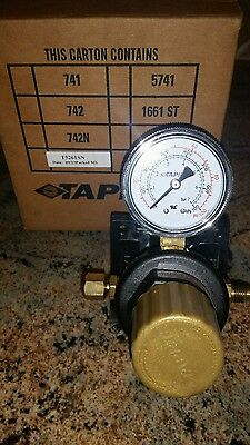 """Taprite Co2 T5261SN Secondary In Line Pressure Regulator 1/4"""" Inlet / Outlet NEW"""