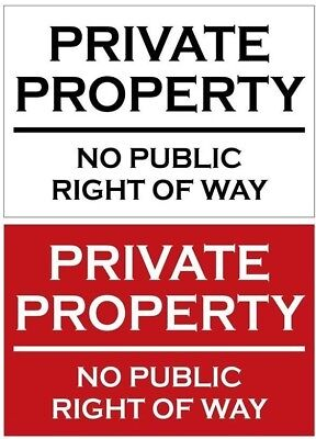 PRIVATE PROPERTY NO PUBLIC RIGHT OF WAY Metal SIGN / NOTICE keep out trespassers