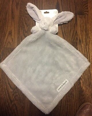 NWT Blankets And Beyond Gray Grey Security Bunny Rabbit White NUNU  Lovey Baby